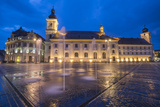 Piata Mare (Great Square) at Night