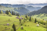 Hilly Rural Landscape of the Bukovina Region at Sadova  Romania  Europe