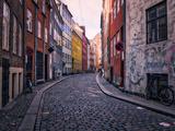 A Street Scene in Copenhagen  Denmark  Scandinavia  Europe