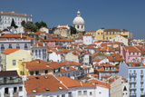 Terracotta Roofs and Ancient Dome Seen from Miradouro Alfama One of Many Viewpoints of Lisbon