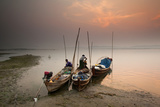 Fisherman Prepare to Set Out  Irrawaddy River  Myanmar (Burma)  Asia