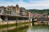 Bilbao-Abando Railway Station and the River Nervion  Bilbao  Biscay (Vizcaya)