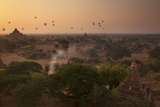Hot Air Balloons at Sunrise Above Bagan (Pagan)  Myanmar (Burma)  Asia