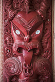 Wooden Carving at a Maori Meeting House  Waitangi Treaty Grounds  Bay of Islands