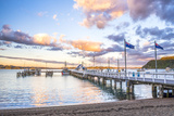Russell Pier at Sunset  Bay of Islands  Northland Region  North Island  New Zealand  Pacific