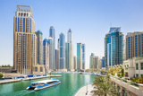 Dubai Marina Skyline and Harbour  Dubai City  United Arab Emirates  Middle East