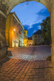 Sighisoara at Night in the Historic Centre of the 12th Century Saxon Town  Sighisoara