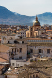 View of the Rooftops of Palermo with the Hills Beyond  Sicily  Italy  Europe