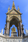 Albert Memorial  to Queen Victoria's Consort  in Summer  Kensington Gardens  South Kensington