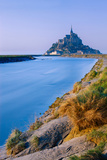 The Couesnon River Leading to the Island of Mont Saint-Michel  UNESCO World Heritage Site  Normandy