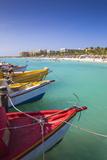 Boats at Fishermans Pier  Palm Beach  Aruba  Netherlands Antilles  Caribbean  Central America