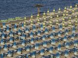 Umbrellas on the Beach  Gatteo a Mare  Region of Emilia Romana  Adriatic Sea  Italy  Europe