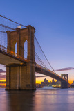 Brooklyn Bridge over East River  New York  United States of America  North America