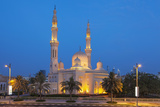 Dubai Jumeirah Mosque at Night  Dubai  United Arab Emirates  Middle East