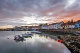 Sailing Boats at Sunset in the Harbour at St Monans  Fife  East Neuk  Scotland  United Kingdom