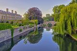Clare and King's College Bridges over River Cam  the Backs  Cambridge  Cambridgeshire  England