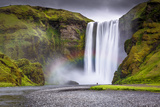 Skogafoss Waterfall Situated on the Skoga River in the South Region  Iceland  Polar Regions