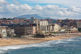 The Beach and Seafront in Biarritz  Pyrenees Atlantiques  Aquitaine  France  Europe