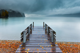 An Autumn Storm Rolls in across Lake Brienz from the Mountains of the Bernese Oberland