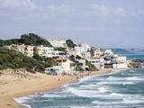 Beach and Town of Marinella Di Selinunte  Sicily  Italy  Mediterranean  Europe