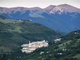 View at Sunset  Village of Preci  Valnerina  Umbria  Italy  Europe