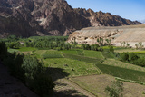 Rugged Landscapes and Green Patchwork Fields Near Shahr-E Zohak  Afghanistan  Asia