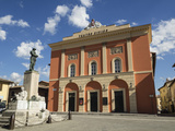 Civic Theatre  Piazza Vittorio Veneto  Norcia  Umbria  Italy  Europe