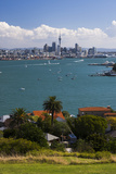 Auckland City Skyline and Auckland Harbour Seen from Devenport  North Island  New Zealand  Pacific