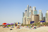 Sunbathers on the Public Dubai Beach at Jbr (Jumeirah Beach Resort)  Dubai  United Arab Emirates