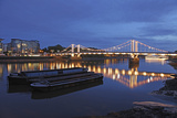 The Chelsea Bridge in London During Blue Hour  London  England