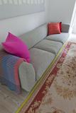 Sofa Detail in Living Room of Modern London Family Home  UK