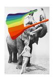 Pigment Smudge  Elephant Acrobats