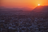 Sunset View over the Cityscape of Alicante Looking Towards Sierra De Fontcalent