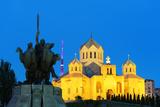 Eurasia  Caucasus Region  Armenia  Yerevan  Statue of St Grigor at St Gregory Cathedral