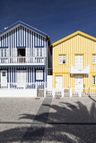 Candy-Striped Painted Beach Houses in Costa Nova  Beira Litoral  Portugal