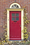 A Traditional Doorway in Autumn Colours  Old Town Utrecht  Netherlands