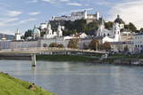 The River Salzach and the Baroque City of Salzburg  Austria