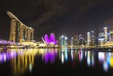 South East Asia  Singapore  Marina Bay Sands and Art Science Museum