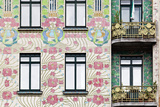 Facade of Jugendstil Style Majolikahaus (Majolica) House at No