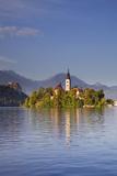 Slovenia  Julian Alps  Upper Carniola  Lake Bled Island with Church on Lake Bled