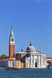 San Giorgio Maggiore and Campanile  Viewed from Calle Vallaresso  San Marco  Venice  Veneto  Italy