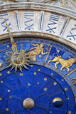 Detail of the Clock Face on the Torre Dell in the Piazza San Marco  San Marco  Venice