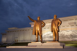 North Korea  Pyongyang Bronze Statues of Kim Il Sung  Arm Out Pointing the Way Forward