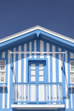A Blue Candy-Striped Beach House in Costa Nova  Beira Litoral  Portugal