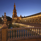 The Plaza De Espana Is a Plaza Located in the Maria Luisa Park  in Seville  Spain