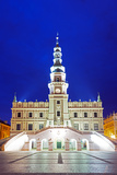 Europe  Poland  Zamosc  Rynek Wielki  Old Town Square  Town Hall  Unesco