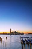 Europe  Italy  Veneto  Venice  San Giorgio Maggiore Church across Basino Di San   Sunrise