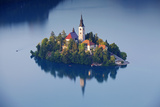 Slovenia  Julian Alps  Upper Carniola  Lake Bled Aerial View of the Island on Lake Bled