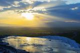 Turkey  Western Anatolia  Pamukkale  UNESCO Site  White Travertine Basins