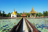 South East Asia  Myanmar  Bago  Lakeside Pagodas